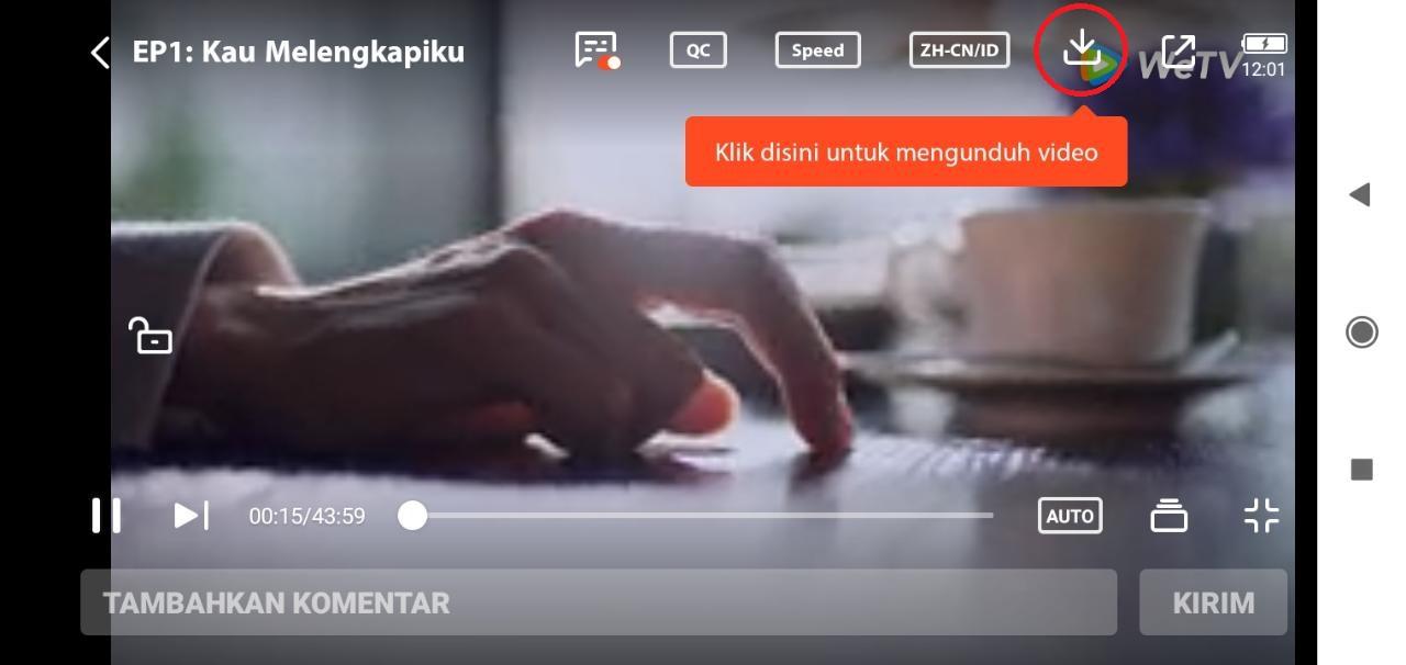 Cara download film di aplikasi WeTV 4